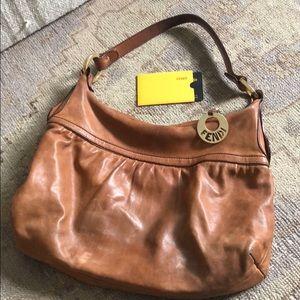 Vintage Fendi Tan Leather Hobo